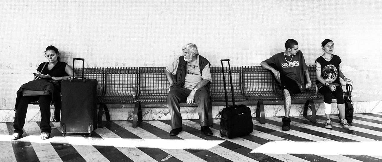 Bus station, Florence 2012